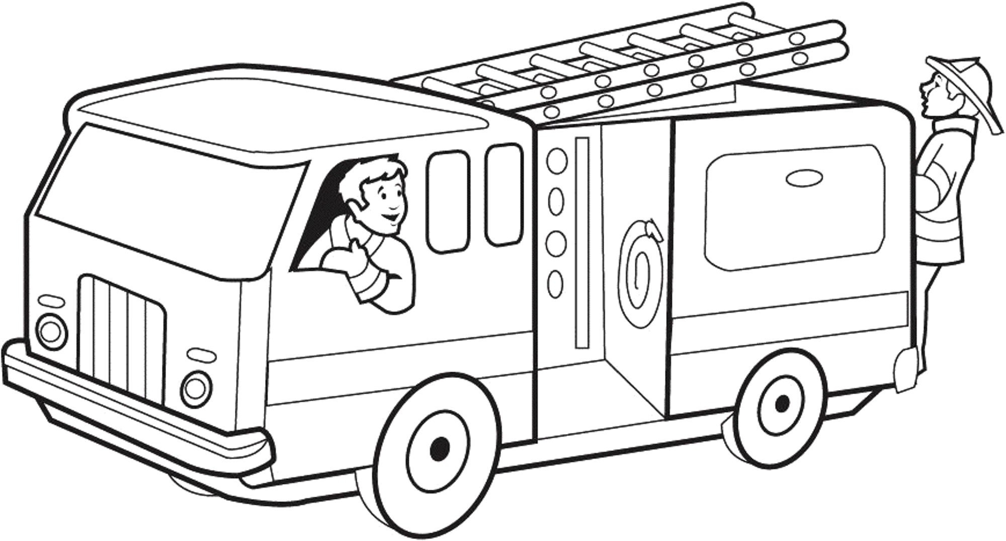 Fire Truck Coloring Pages Pdf  Collection 19e - To print for your project