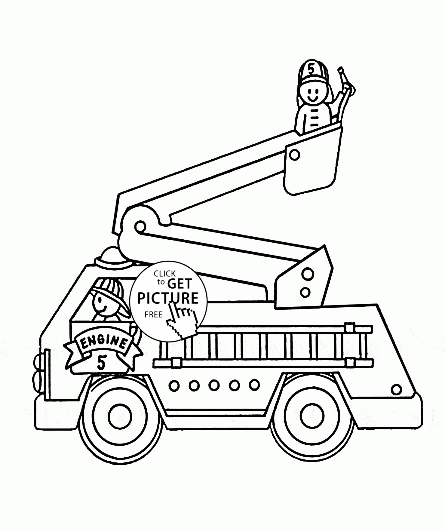 Fire Truck Coloring Pages Pdf  Collection 3g - Free For Children