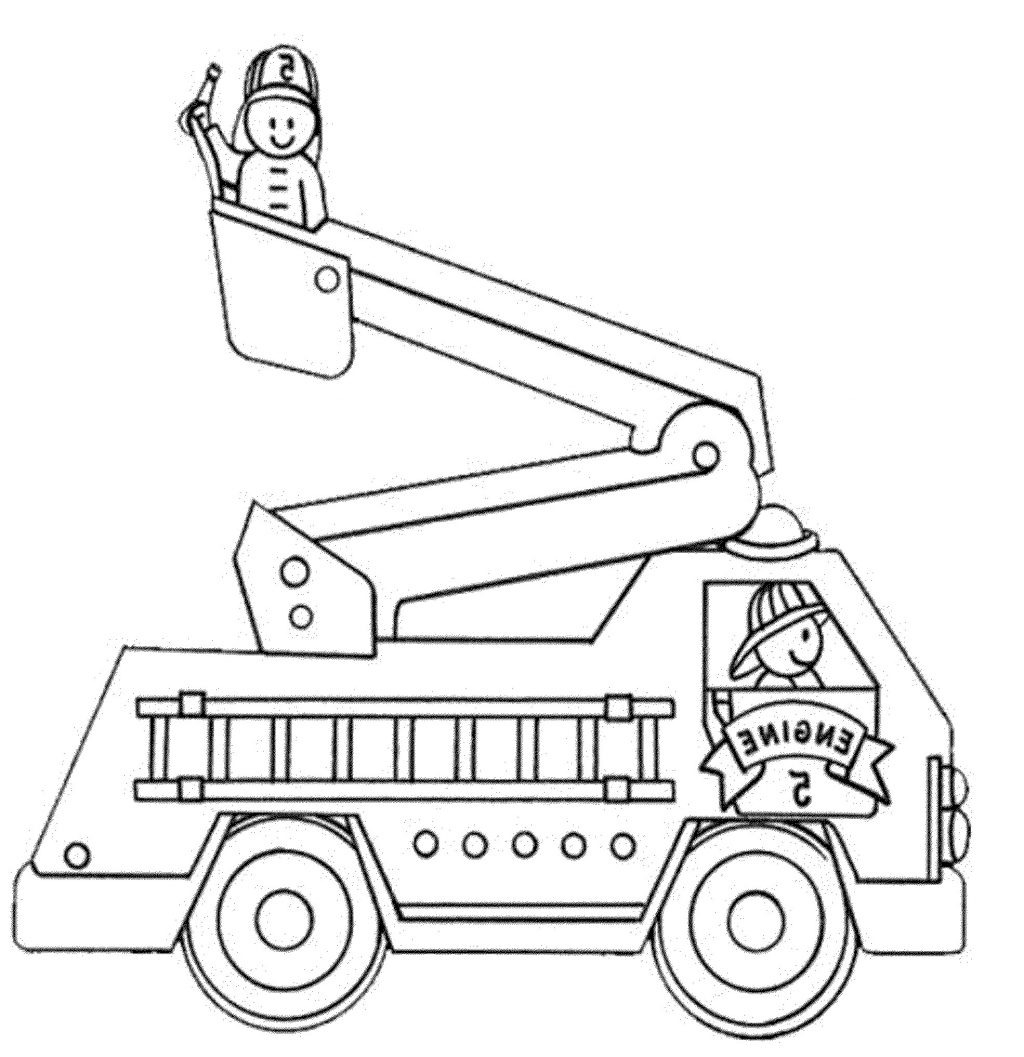 Fire Truck Coloring Pages Pdf  Collection 19n - Free Download