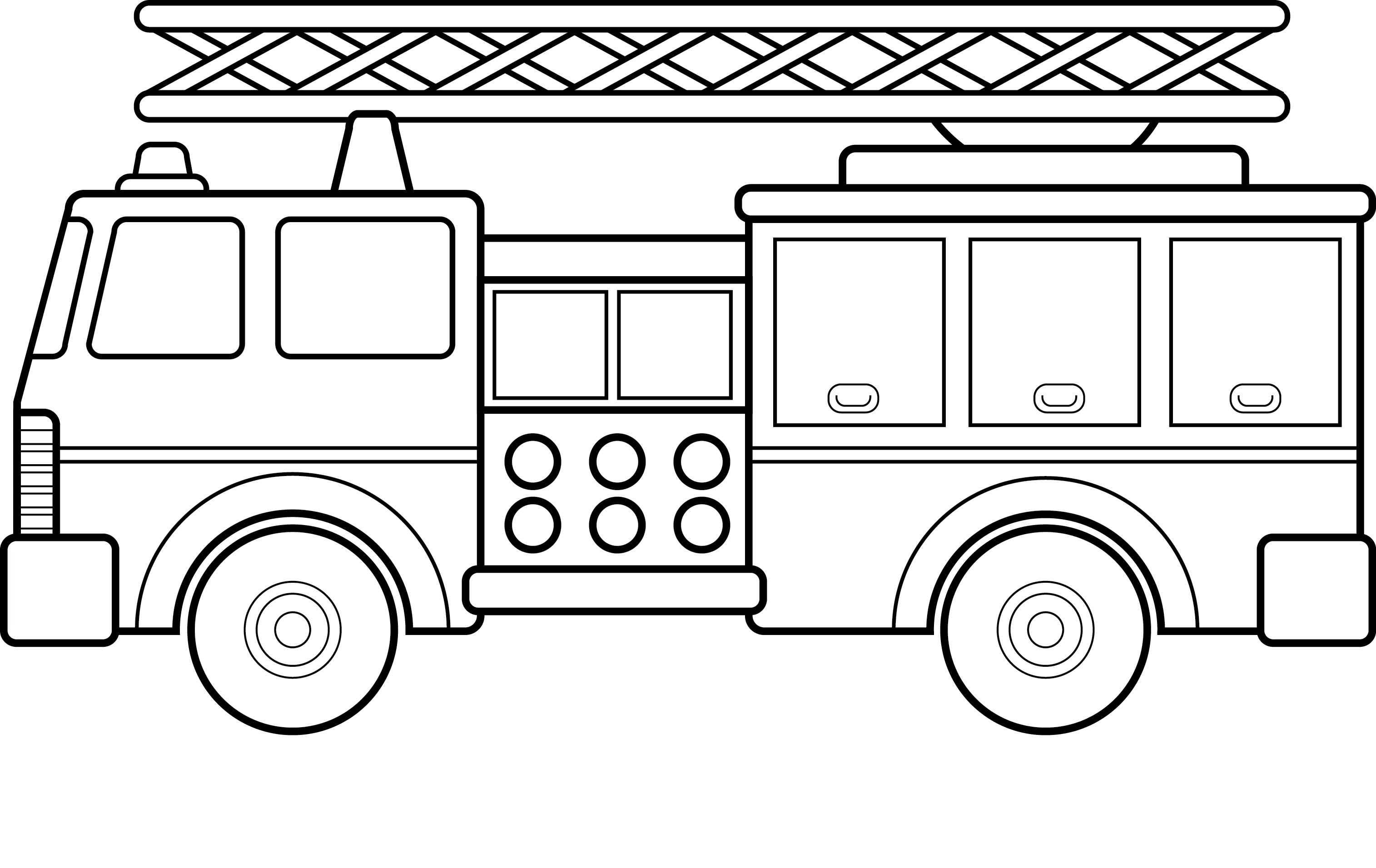 Fire Truck Coloring Pages Pdf  Collection 8j - Free For Children