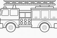Fire Truck Coloring Pages Pdf - Fire Truck Template Exaple Resume and Cover