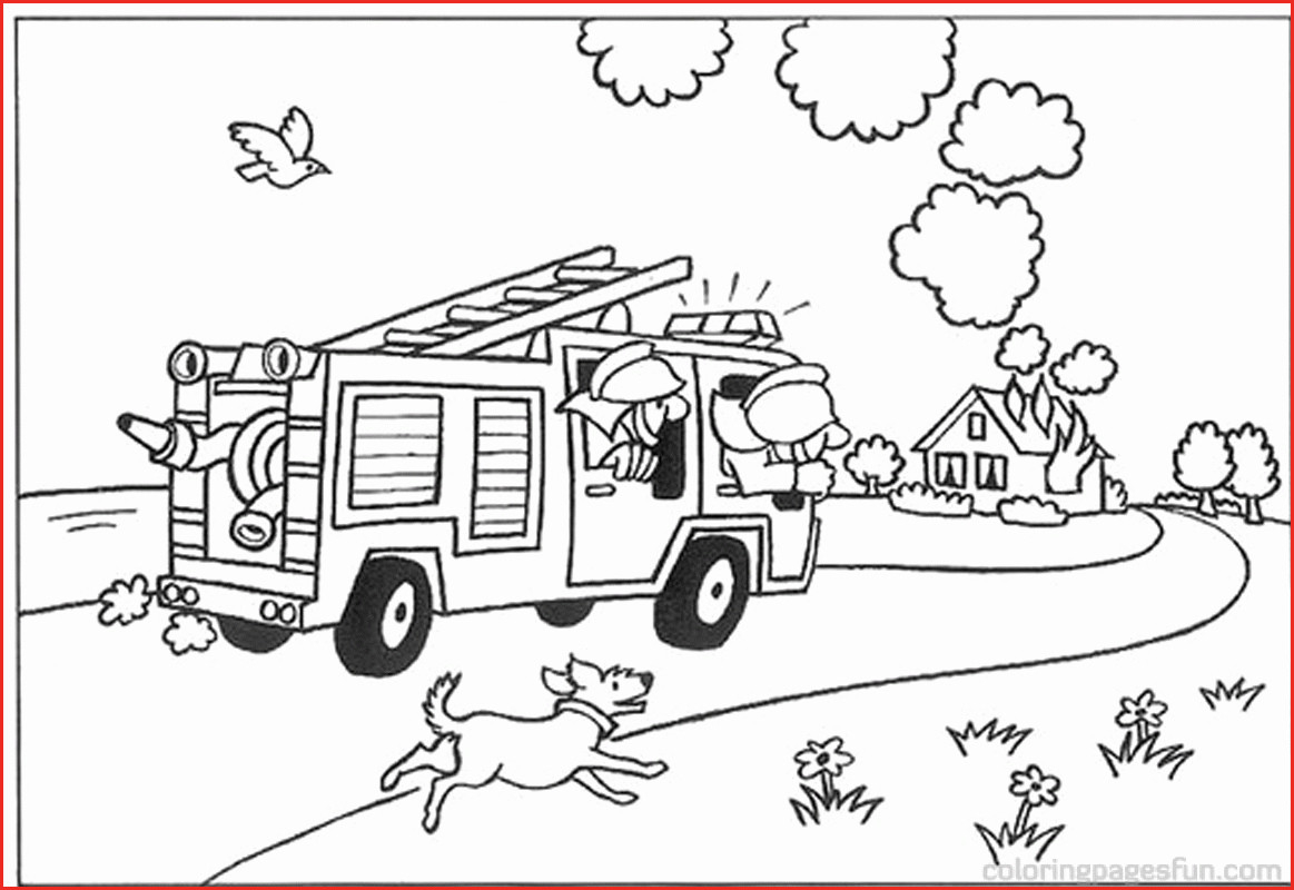 Firefighter Coloring Pages for Preschoolers  Printable 14e - Free For kids