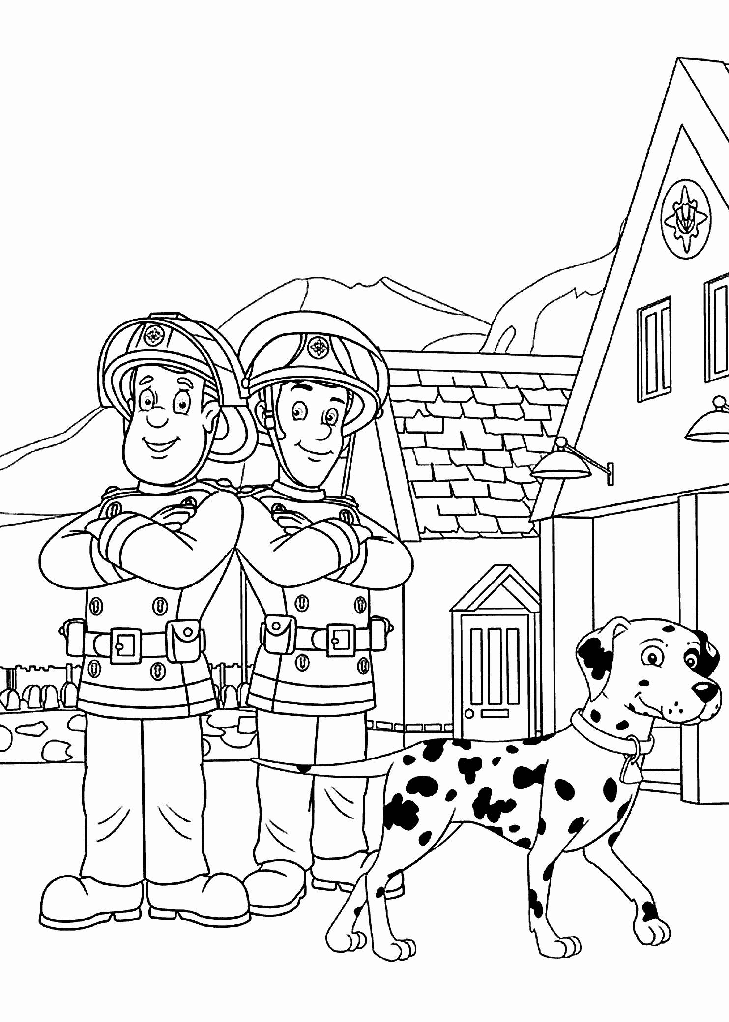 Firefighter Coloring Pages for Preschoolers Printable ...