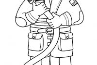 Firefighter Coloring Pages for Preschoolers - Printable Fireman Coloring Pages