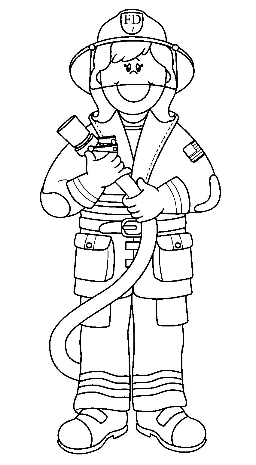 Firefighter Coloring Pages for Preschoolers  Printable 9k - To print for your project