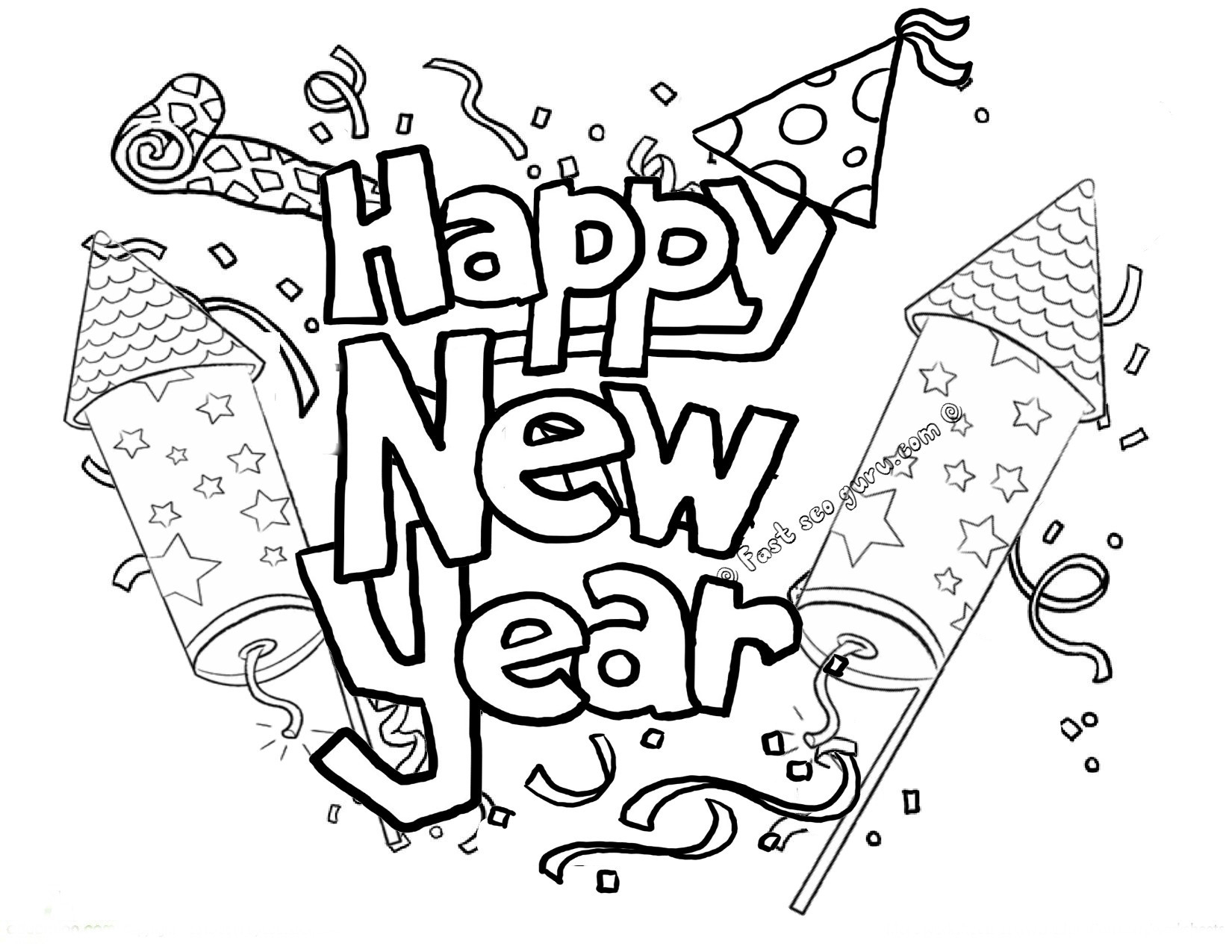 Firework Coloring Pages  Printable 11i - To print for your project
