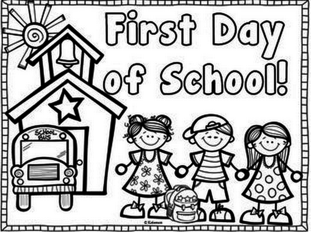 First Day Of Preschool Coloring Pages  Printable 20j - Save it to your computer