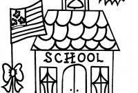 First Day Of School Coloring Pages - First Day Kindergarten Coloring Page 7489