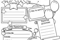 First Day Of School Coloring Pages for Kindergarten - All About Me Worksheet Freebie Cute Language Arts