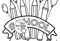 First Day Of School Coloring Pages for Kindergarten - School Color Pages Printable