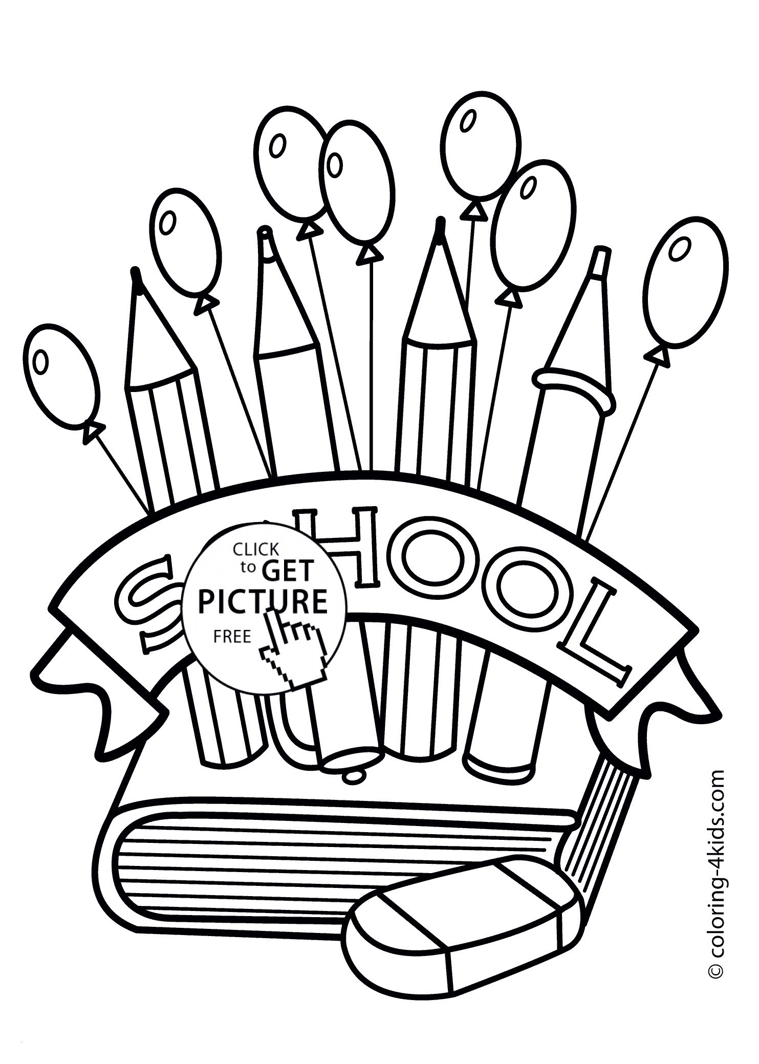First Day Of School Coloring Pages for Kindergarten  Printable 11a - Save it to your computer