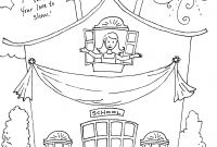 First Day Of School Coloring Pages for Kindergarten - School House Coloring Pages Coloring Pages Coloring Pages