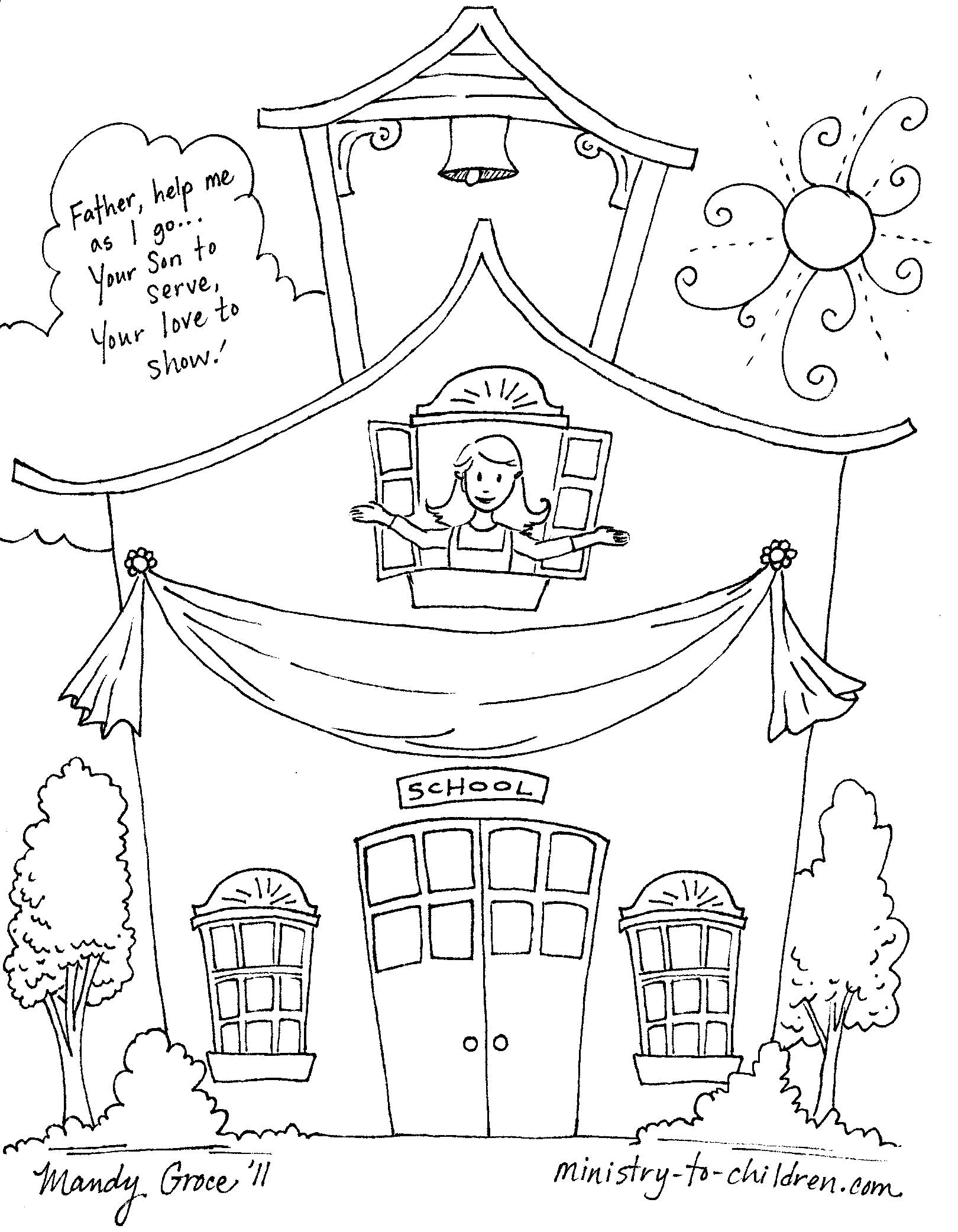 First Day Of School Coloring Pages for Kindergarten  Printable 20i - To print for your project