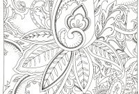 Flower Garden Coloring Pages - Modern Black and White Flowers