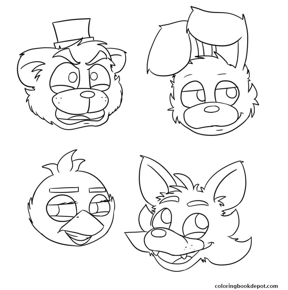 Fnaf Coloring Pages  Printable 9p - Free For kids