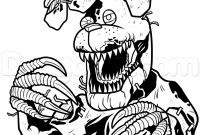 Fnaf Coloring Pages Online - Bonnie Coloring Pages Nightmare Drawing