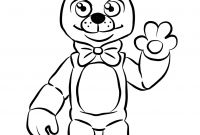 Fnaf Coloring Pages Online - Fnaf Golden Freddy Coloring Page