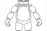 Fnaf Coloring Pages Online - Golden Freddy Drawing at Getdrawings