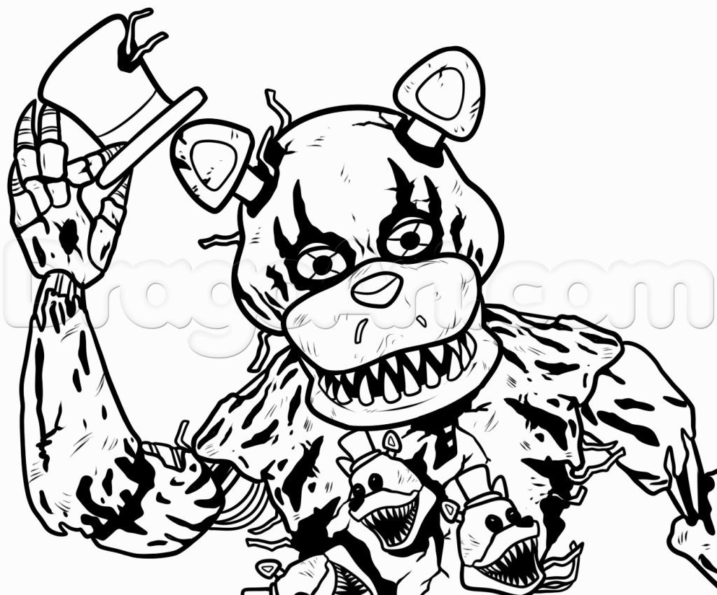 Fnaf Coloring Pages Online  to Print 6j - Free For kids