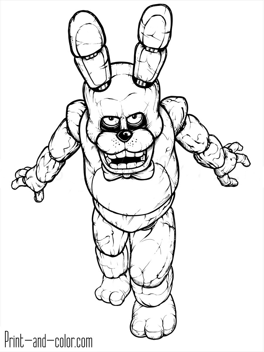Fnaf Coloring Pages Online  to Print 12j - To print for your project