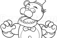 Fnaf Coloring Pages Online - Shadow Freddy Coloring Pages