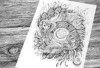 Folk Art Coloring Pages - Cat Dragon Coloring Book Page by Hontor On Deviantart