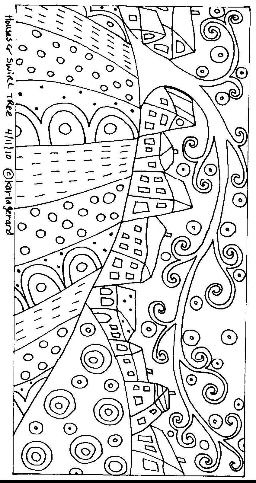 Folk Art Coloring Pages  Gallery 9f - Free For kids