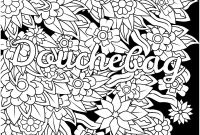 Folk Art Coloring Pages - Free Coloring Pages for Adults to Print Douchebag Swear Word