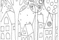 Folk Art Coloring Pages - Patrones Casas Pinturas Pinterest