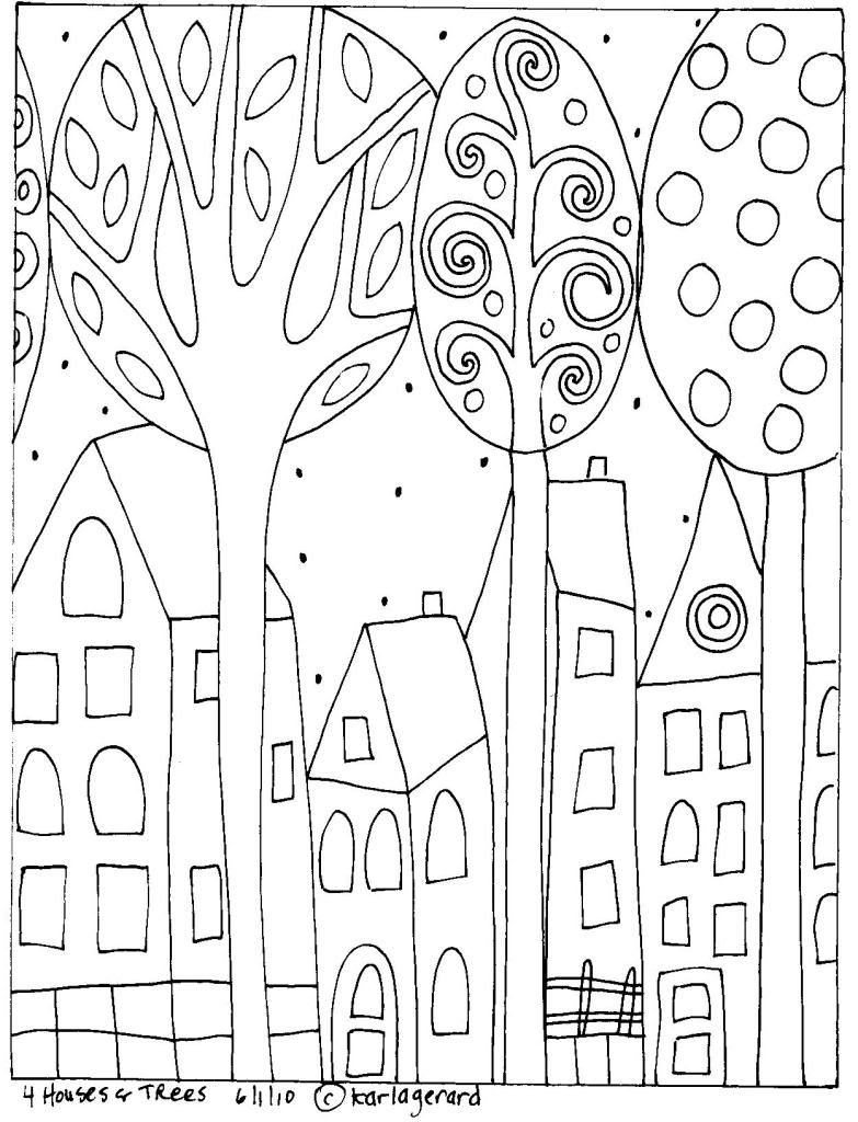 Folk Art Coloring Pages  Gallery 10g - To print for your project
