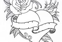 Folk Art Coloring Pages - Roseheart Outline 1 by Vikingtattooviantart On Deviantart