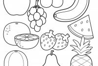 Food Chain Coloring Pages - Free Fruit Coloring Page Happiness is Homemade