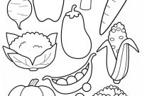 """Food Chain Coloring Pages - Healthy Ve Ables Coloring Page Sheet Printable """"i Tried"""