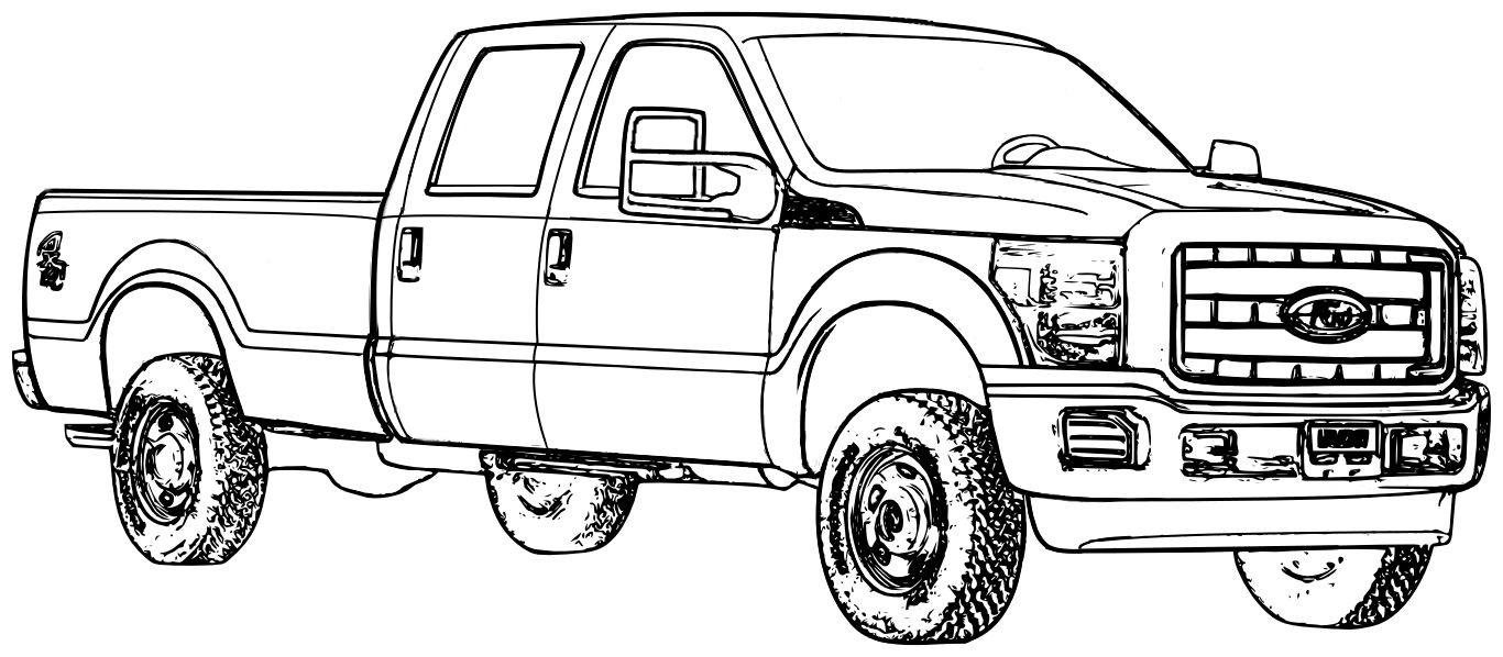 Ford Truck Coloring Pages  Printable 11c - Free Download