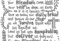 Forgiveness Coloring Pages - Lord S Prayer Coloring Printables