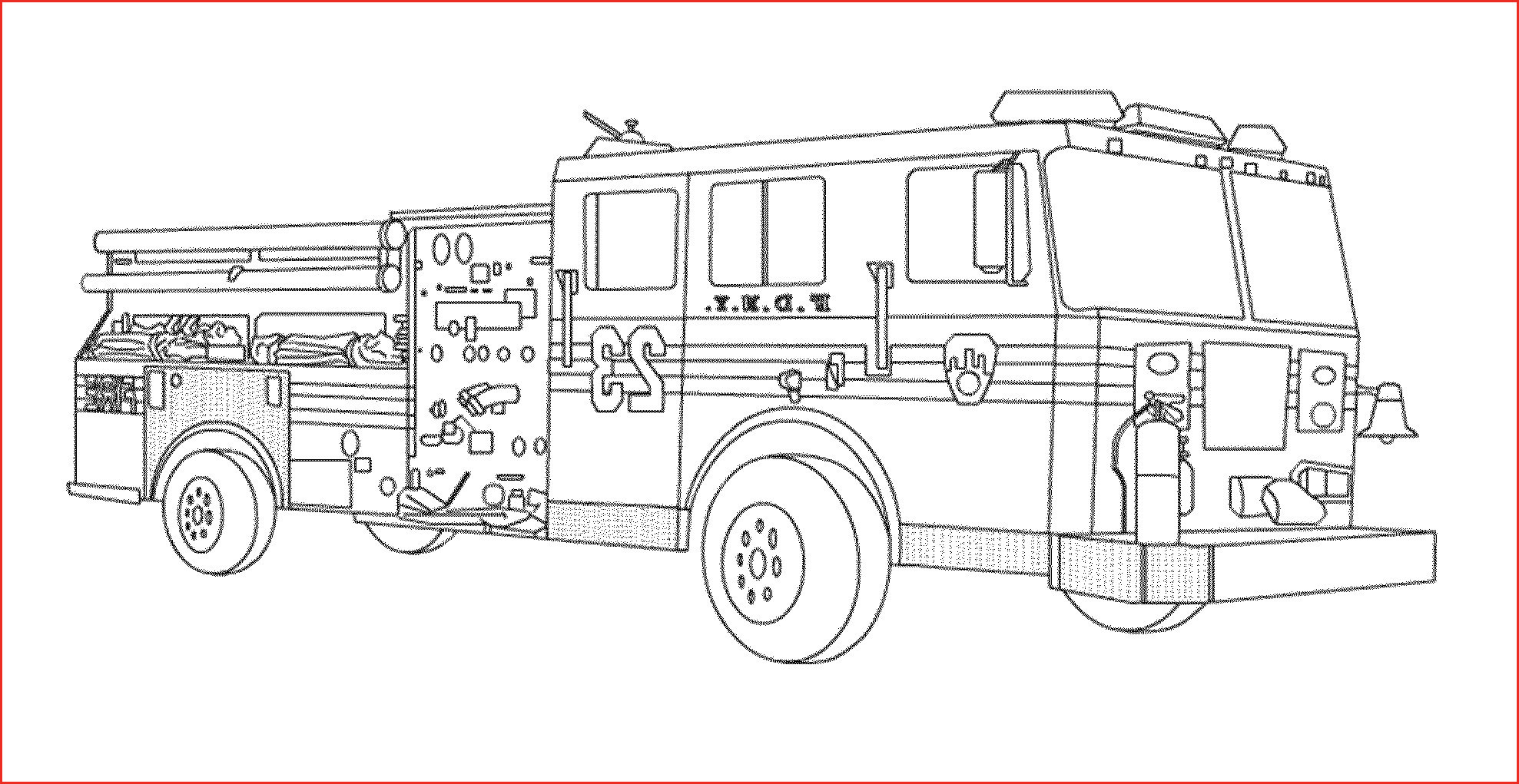 Free Fire Truck Coloring Pages Printable  Gallery 14s - To print for your project