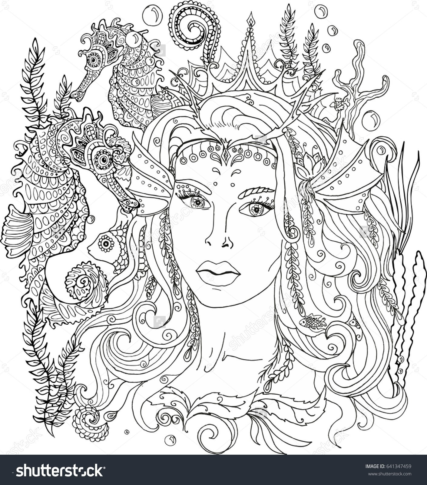 Free Little Mermaid Coloring Pages  Download 20h - Free Download