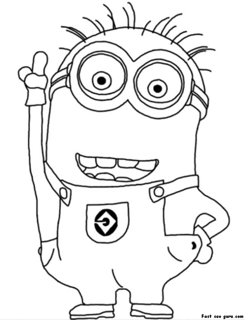 Free Minion Coloring Pages  Gallery 3n - Free Download