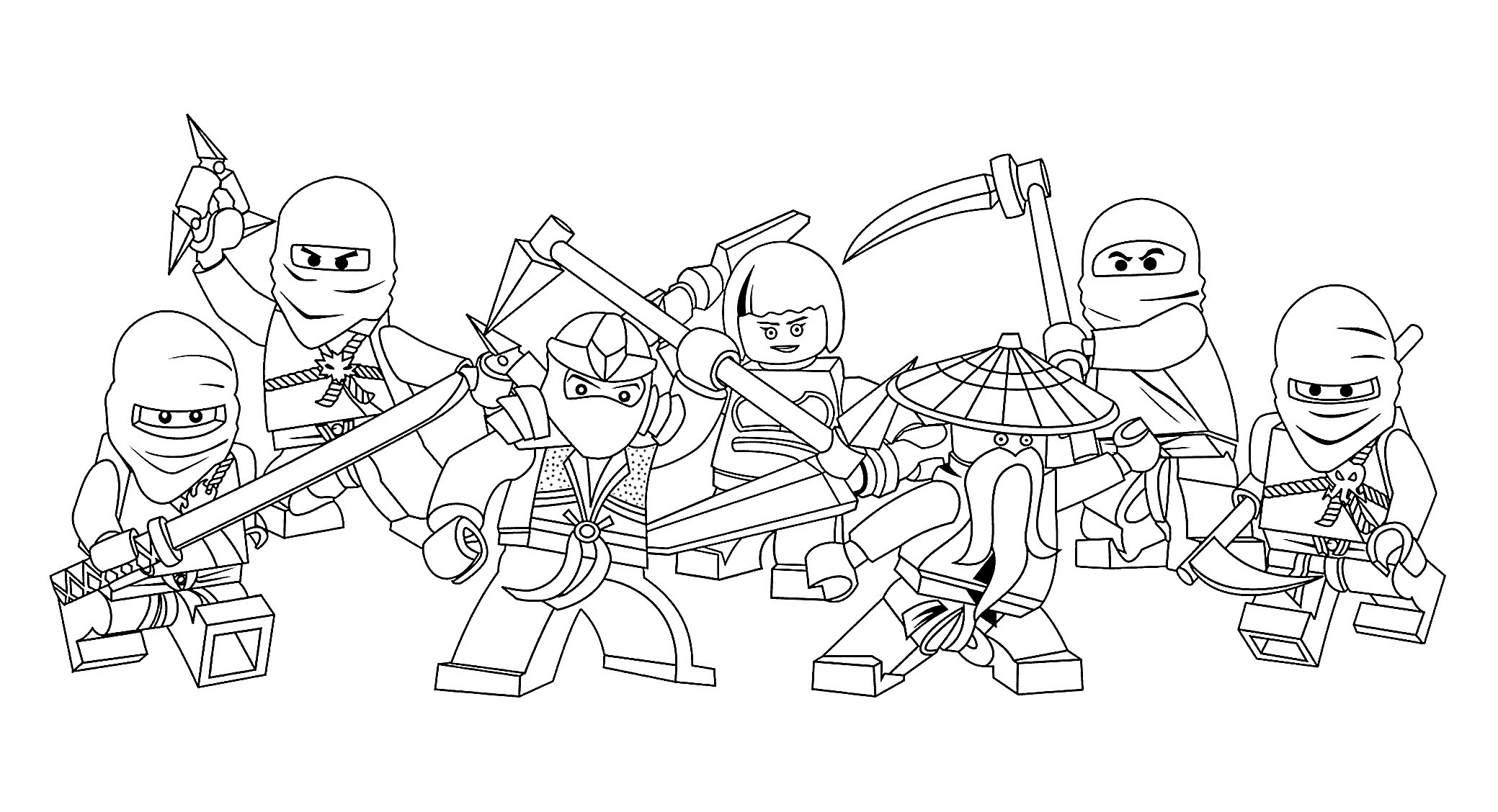 Free Ninja Coloring Pages  to Print 13p - To print for your project
