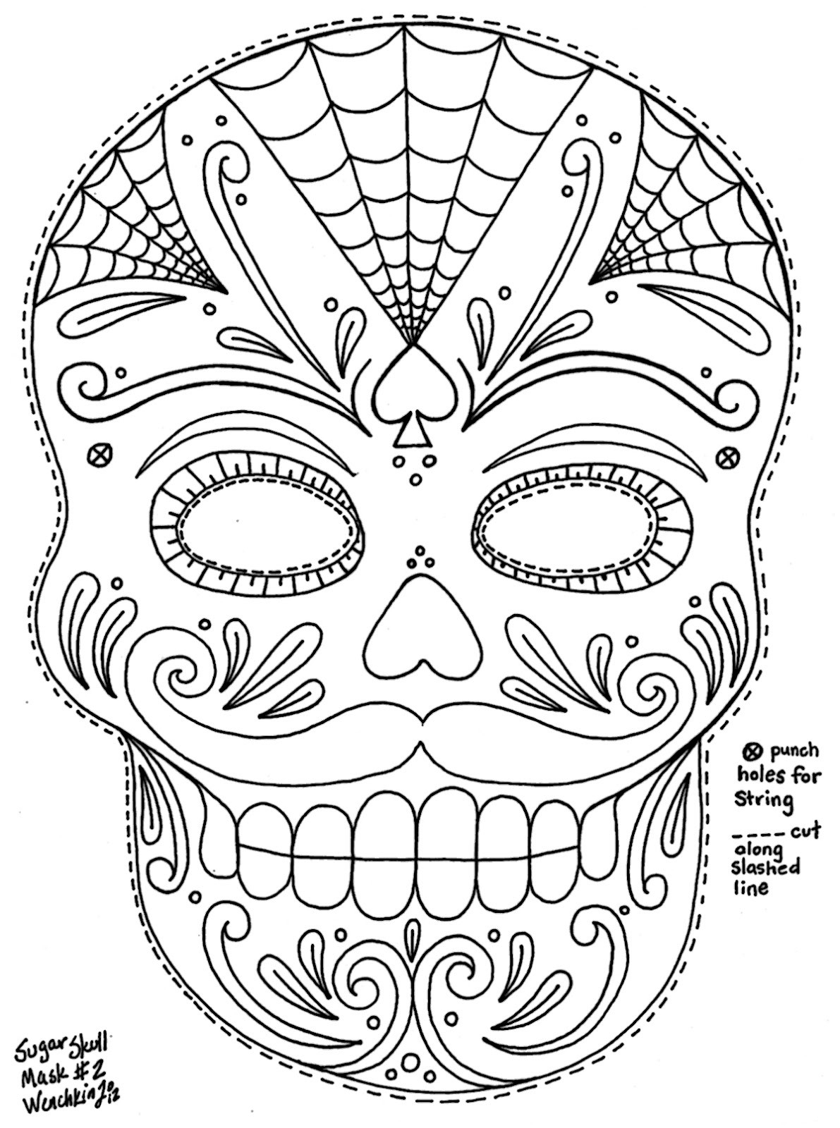 Free Printable Day Of the Dead Coloring Pages  Collection 2j - Free For Children