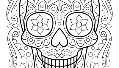 Free Printable Day Of the Dead Coloring Pages - Free Sugar Skull Coloring Page Printable Day the Dead Coloring