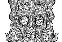 Free Printable Day Of the Dead Coloring Pages - New Skull Coloring Pages for Adults Flower Coloring Pages
