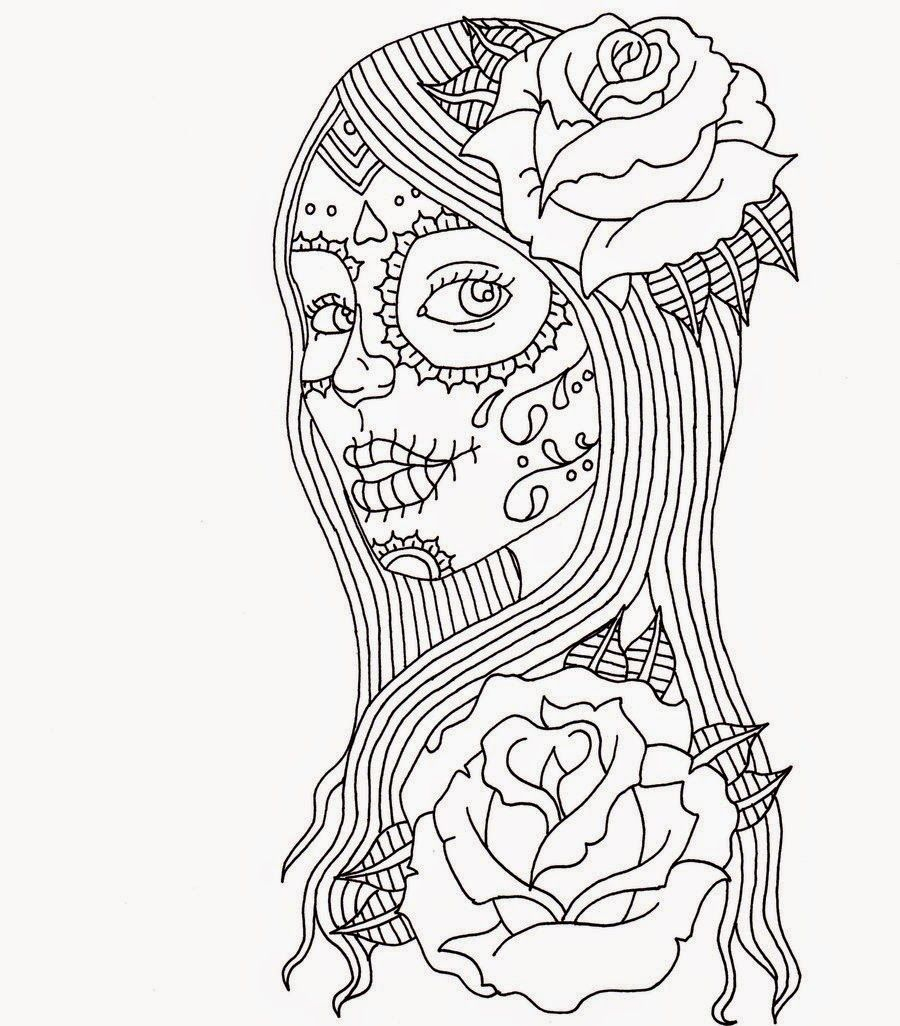 Free Printable Day Of the Dead Coloring Pages  Collection 16b - Free Download