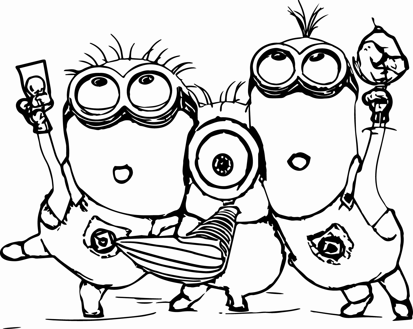 Free Printable Minion Coloring Pages  Gallery 7s - To print for your project