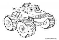Free Printable Monster Truck Coloring Pages - 18cute Truck Coloring Sheets Clip Arts & Coloring Pages