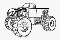 Free Printable Monster Truck Coloring Pages - Monster Trucks Coloring Pages Leichte Malvorlagen Frisch Monster
