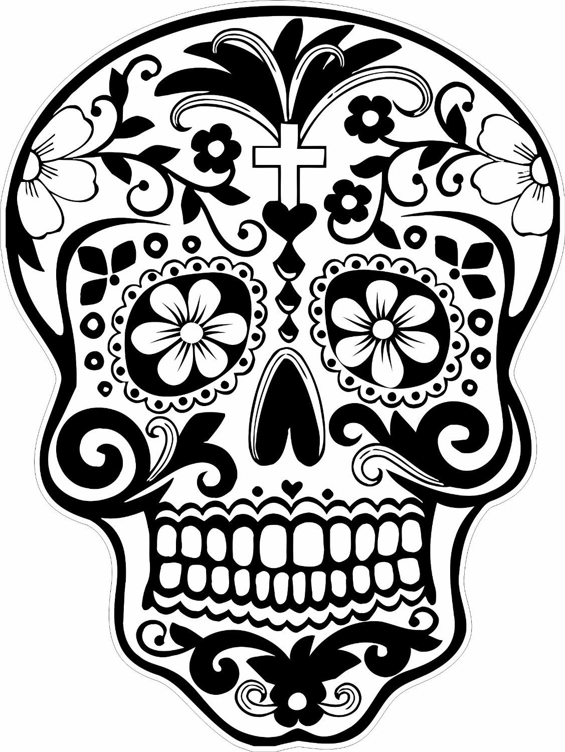 Free Printable Skull Coloring Pages  Printable 3p - Free For Children