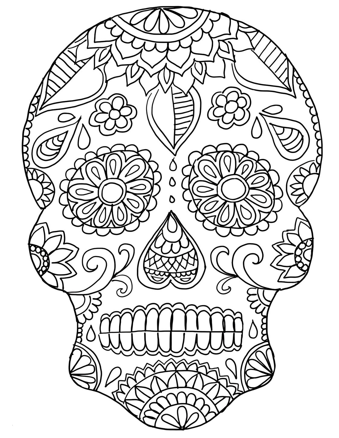 Free Printable Skull Coloring Pages  Printable 13o - Free Download