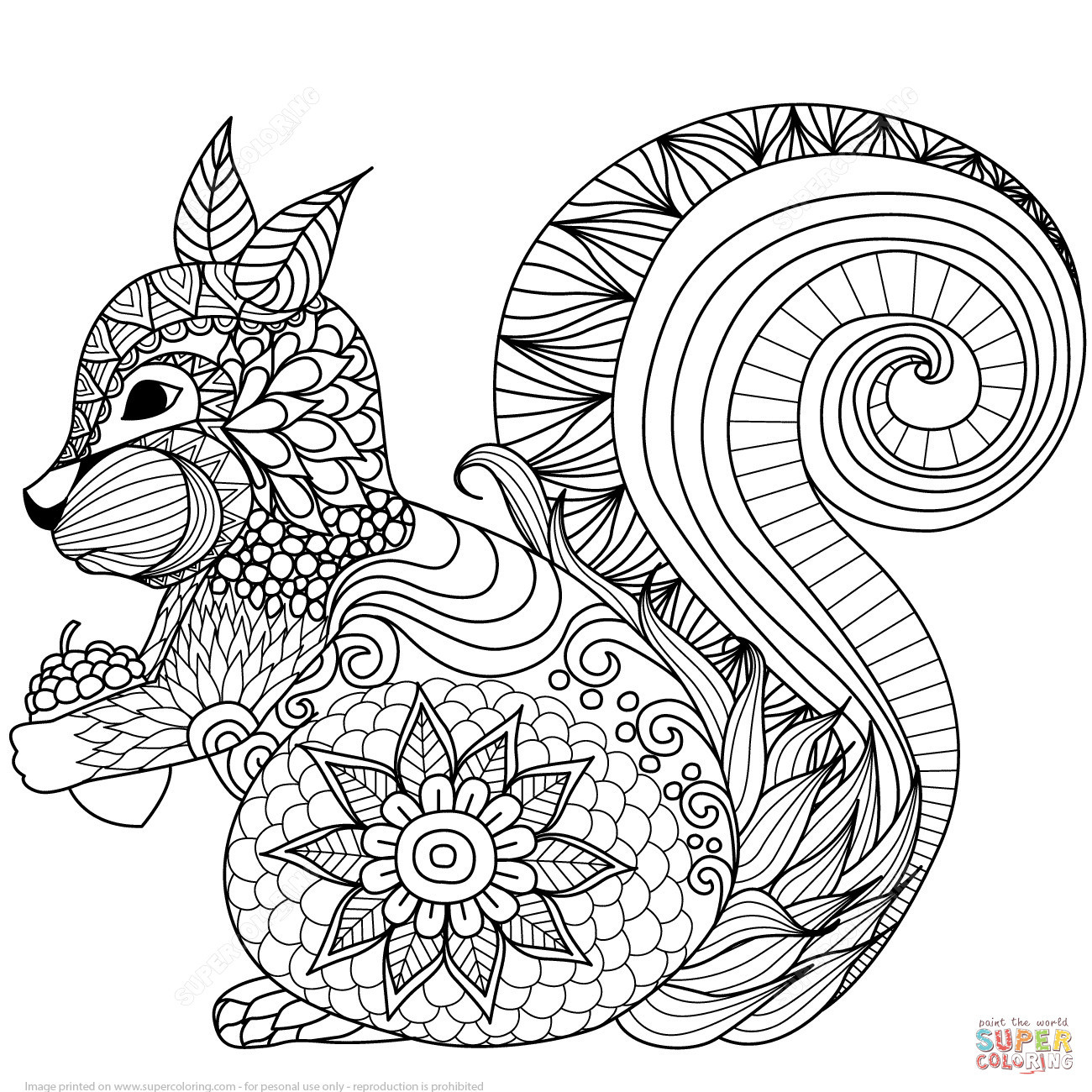 Free Printable Zentangle Coloring Pages  to Print 9o - Save it to your computer