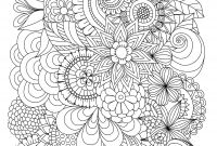 Free Printable Zentangle Coloring Pages - Flowers Abstract Coloring Pages Colouring Adult Detailed Advanced